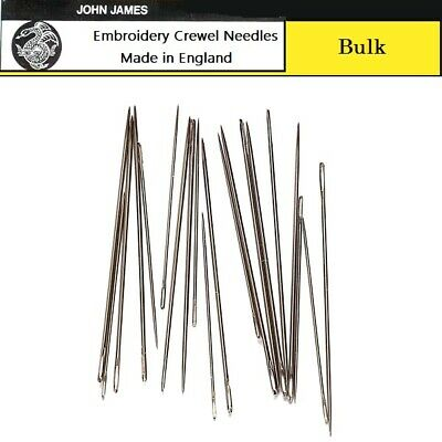Bulk JOHN JAMES #12 Embroidery/Crewel Needles