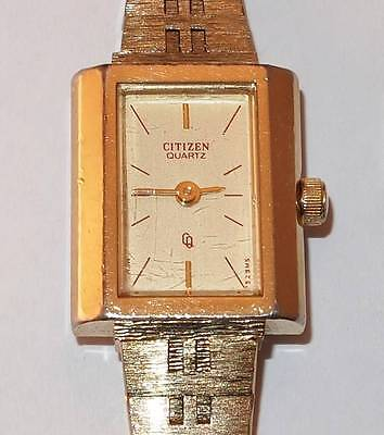 VINTAGE Ladies Citizen Quartz Watch  Japan & Taiwan Made  Wristwatch and Band