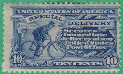 US #E6 mint 10c Bicycle Special Delivery wmk 191 double line pf 12 1902 cv $230