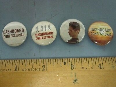 DASHBOARD CONFESSIONAL 2006 ltd.ed. 4 button/badge/pinback set ~NEW~!