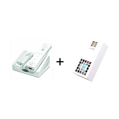 Wii Magnetic Induction Charger with 2 Batteries Drop n Charge & Cooling Fan