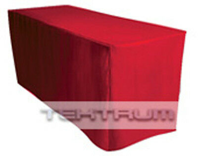 New 6' Fitted Table Jacket Cover Cloth Red - Trade Show