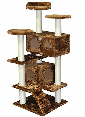 """GoPetClub 53"""" Cat Tree House Toy Condo Pet Furniture Bed F2025"""