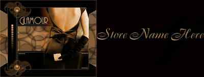 Sexy Brown Glamour Ebay Store Front Header Package