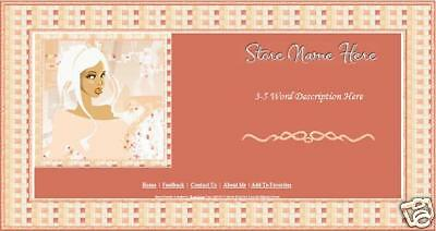 Glitzy Pink Glamour Boutique Store Front Header