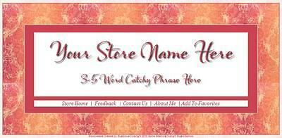 Pink and Peach Victorian Store Front Header Package