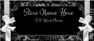 Black Filigree and Ribbons Store Front Header Package