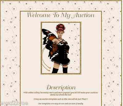 Animated Butterfly Star Fairy Auction Template