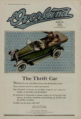 1918 WILLYS OVERLAND CAR AUTO AD / THE THRIFT CAR - LIGHT FOUR - MODEL 90
