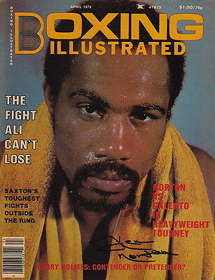 KEN NORTON Autographed Signed BOXING ILLUSTRATED Cover