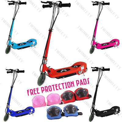 New Electric E Scooter Ride on Rechargeable Battery Kids Toys Scooters 120W 24V