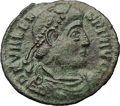 VALENS 364AD  Ancient Roman Coin CHRIST Monogram CHI-RHO Labarum  i29842