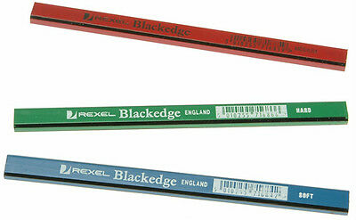REXEL BLACKEDGE CARPENTERS - JOINERS PENCIL - Pack of 12 Assorted Pencils