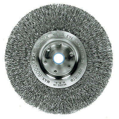 Trulock Narrow-Face Crimped Steel Wire Wheel