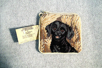 Black Labrador Puppy Needle Point Coin Purse by Union Trading Company.