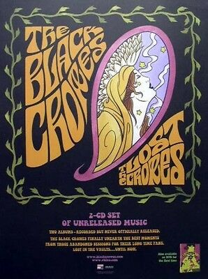 THE BLACK CROWES 2006 lost crowes promo poster ~MINT condition~NEW old stock~!!