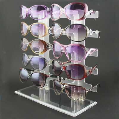 For 10 Pair Glasses Sunglasses Frame Display Show Stand Holder Rack Shop Counter