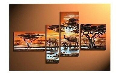 Modern Abstract Huge Wall Art Oil Painting On Canvas: Elephant (No Framed)