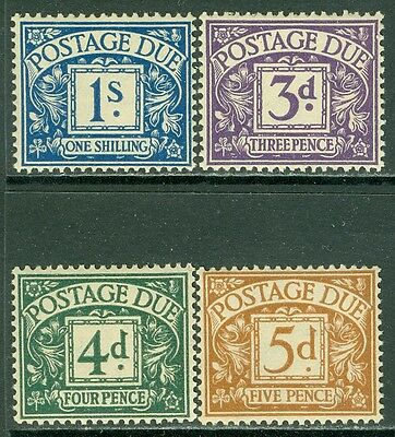 GREAT BRITAIN : 1936-7. Stanley Gibbons #D22-25 Very Fine, Mint OG LH. Cat  £132