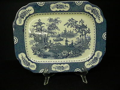 Adams China Aladdin Blue Transferware Platter