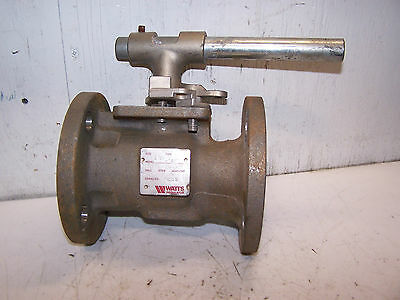 """Watts 2"""" Stainless Steel Flanged Ball Valve Model 212A Type 2501  275 Cwp Cf8M"""