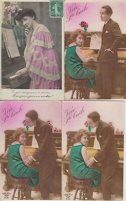 PIANO MUSIC 58 Vintage  postcards Mostly Pre-1970