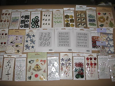 30 Pkts MIXED CRAFT LOVE HEARTS FLOWERS CARD MAKING JOB LOT RANDOM SELECTION
