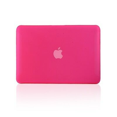 """NEW Rubberized Hot Pink Case Cover for Macbook White 13"""" A1342"""