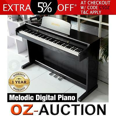 MELODIC 100 Rhythms 88 Standard Weighted Keys Hammer-Action Digital Piano