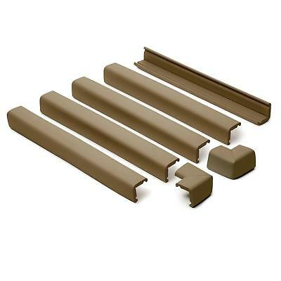 Prince Lionheart Fireplace Edge Guard Cushions (5 Lengths + 2 Corners) Chocolate