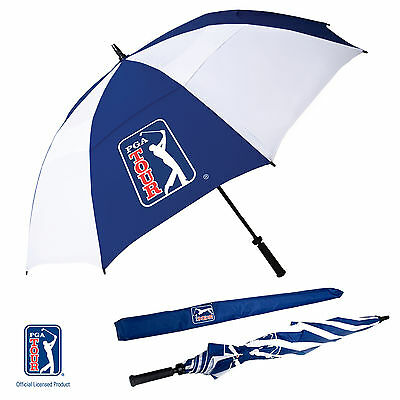 *New* PGA TOUR Windproof Double Canopy Dome Golf Umbrella - Pick Your Quantity