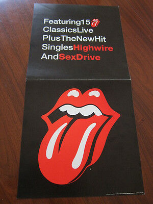 ROLLING STONES Flashpoint Promo Poster 12x24 double sided