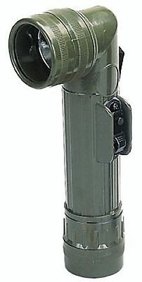 Olive Drab OD Green G.I. US Army Military Marines Style D-Cell Angle Flashlight