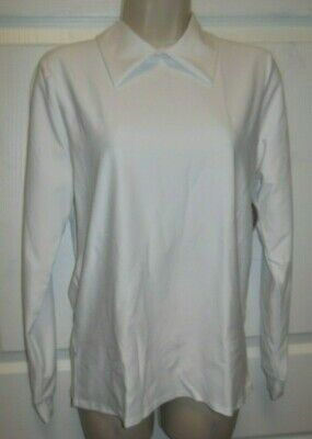 NEW Wolff Fording White Collared Long sleeve shirt Child adult sizes 79242 spndx