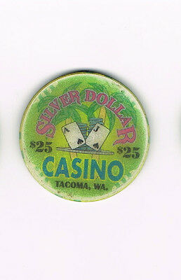 Tacoma WA Washington Silver Dollar Casino $25 Casino Chip