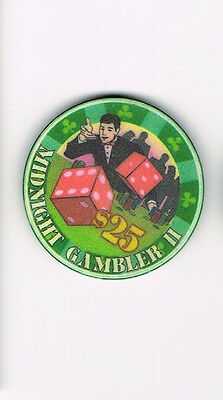 Midnight Gambler II Dice $25 Casino Chip