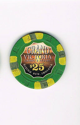 Grand Victoria Casino & Resort Rising Sun, IN Indiana $25 Casino Chip