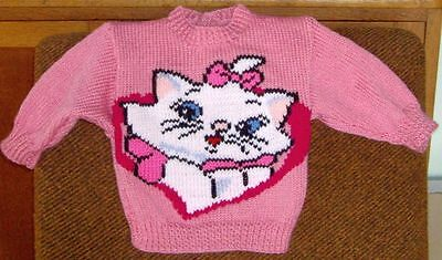 Cat Kitty... Size 1.. New Handknitted