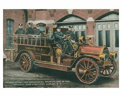 1910 ? Auburn NY Fire Truck Photo Poster zch3586
