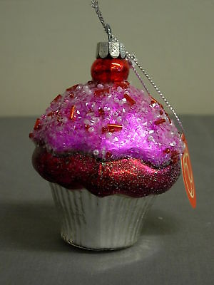 Dept 56 Peppermint Party Frosted Cupcake Ornament