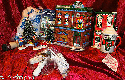 "Department 56...snow Villages. W/accessories...""saturday Morning Downtown""...new"