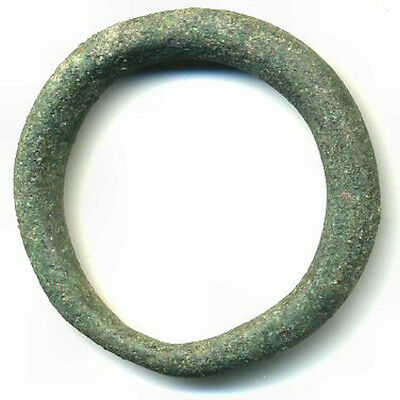 Large authentic (30 mm, 7.5 g.) bronze Ancient Celtic ring money, 800-500 BC