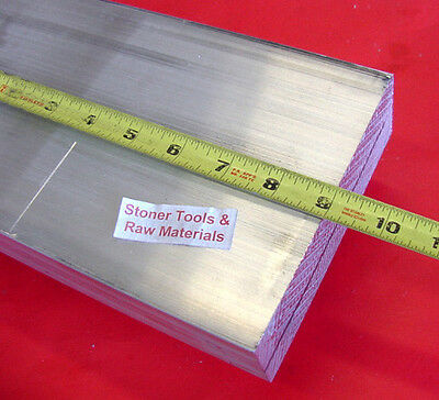 "2"" X 6"" ALUMINUM 6061 FLAT BAR 9"" long SOLID T6511 2.00"" Plate Mill Stock"