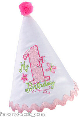 First Birthday Hat 1st Girl Pink Party
