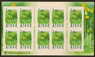 ALAND : 1999 Cowslip self-adhesive sheetlet SG 152 unmounted mint