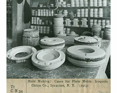 1913 Cases For Plate Mold Making Iroquois China Company Solvay NY Photo ch3640