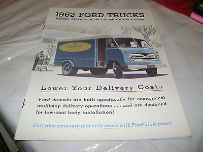 Amazing 1962 FORD Trucks Parcel Delivery P -100,350,400,500 Brochure
