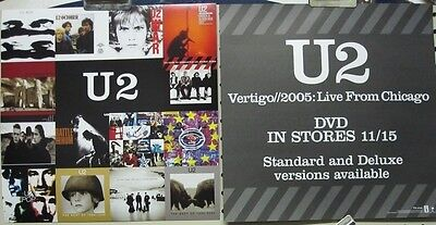 U2 2004 VERTIGO CHICAGO 2 sided promotional poster/flat ~NEW old stock~!