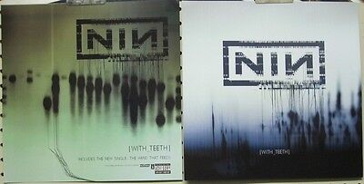 NINE INCH NAILS 2005 WITH TEETH 2 sided promotional poster/flat ~NEW old stock~!