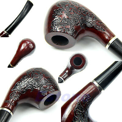 New  Smoking Pipe Tobacco Cigarettes Cigar Pipes Gift Durable Wooden Enchase